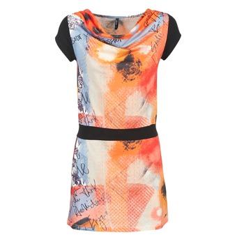 vaatteet Naiset Lyhyt mekko Smash CITRON Orange / Black