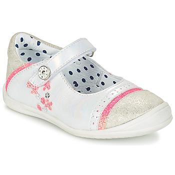 kengät Tytöt Balleriinat Catimini PIPISTRELLE White-fluo / Dpf