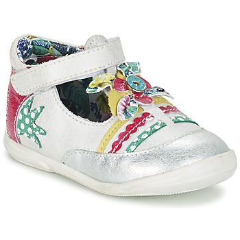 kengät Tytöt Balleriinat Catimini PANTHERE White / Argenté