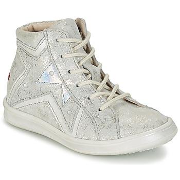 kengät Tytöt Korkeavartiset tennarit GBB PRUNELLA Grey / Silver