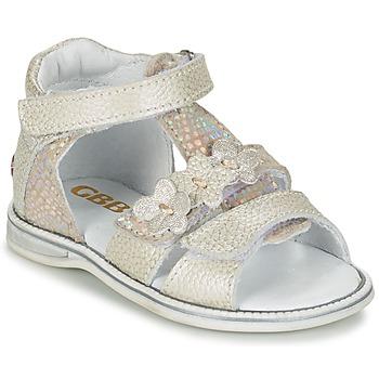 kengät Tytöt Sandaalit ja avokkaat GBB PING Grey / Hopea
