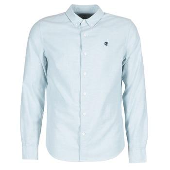 vaatteet Miehet Pitkähihainen paitapusero Timberland LS RATTLE RIVER OXFORD SHIRT SLIM Blue