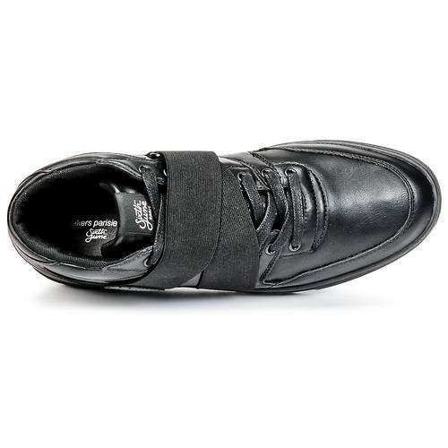 Naisten kengät Sixth June NATION STRAP Black  kengät Korkeavartiset tennarit Miehet 8160