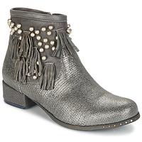 kengät Naiset Bootsit Mimmu MOONSTROP Taupe / Hopea