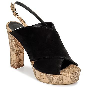 kengät Naiset Puukengät Now PAPIRON Black