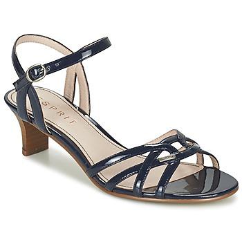 kengät Naiset Sandaalit ja avokkaat Esprit BIRKIN SANDAL Laivastonsininen