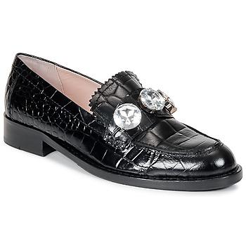 kengät Naiset Mokkasiinit Moschino Cheap & CHIC STONES Black
