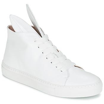 kengät Naiset Korkeavartiset tennarit Minna Parikka BUNNY SNEAKS White