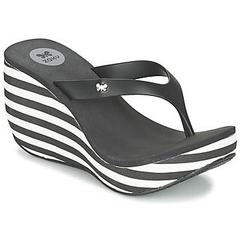 kengät Naiset Varvassandaalit Zaxy LIPSTICK V Black / White