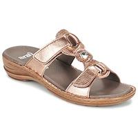 kengät Naiset Sandaalit Ara AGLIMELLE Gold / Pink
