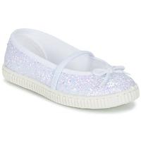 kengät Tytöt Balleriinat Chipie SALSABA Glitter / White
