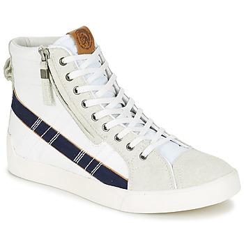 kengät Miehet Korkeavartiset tennarit Diesel D-STRING PLUS White / Blue