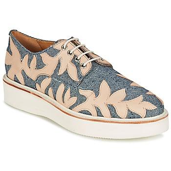 kengät Naiset Derby-kengät Melvin & Hamilton MOLLY 11 Blue / Beige