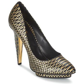 kengät Naiset Korkokengät Roberto Cavalli YDS622-UC168-D0007 Black / Kulta