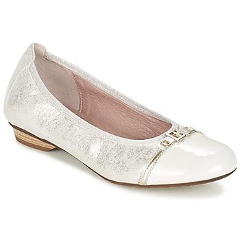 kengät Naiset Balleriinat Dorking TELMA Argenté / BEIGE