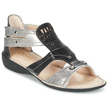 kengät Naiset Sandaalit ja avokkaat Dorking ODA Black / Argenté