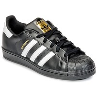 kengät Lapset Matalavartiset tennarit adidas Originals SUPERSTAR Black
