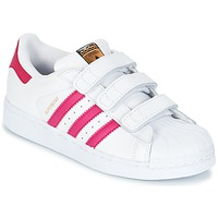 kengät Tytöt Matalavartiset tennarit adidas Originals SUPERSTAR FOUNDATIO White
