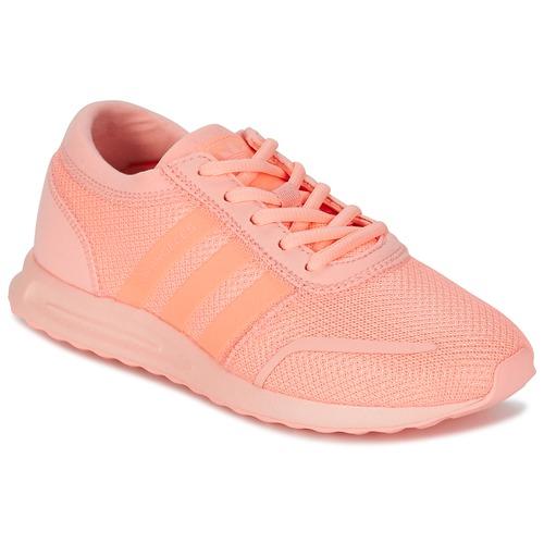kengät Tytöt Matalavartiset tennarit adidas Originals LOS ANGELES J Pink / Corail