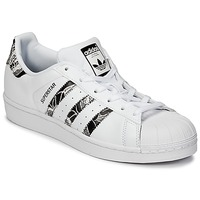 kengät Naiset Matalavartiset tennarit adidas Originals SUPERSTAR W White