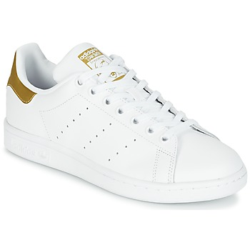 kengät Lapset Matalavartiset tennarit adidas Originals STAN SMITH J White