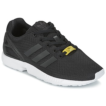kengät Lapset Matalavartiset tennarit adidas Originals ZX FLUX J Black