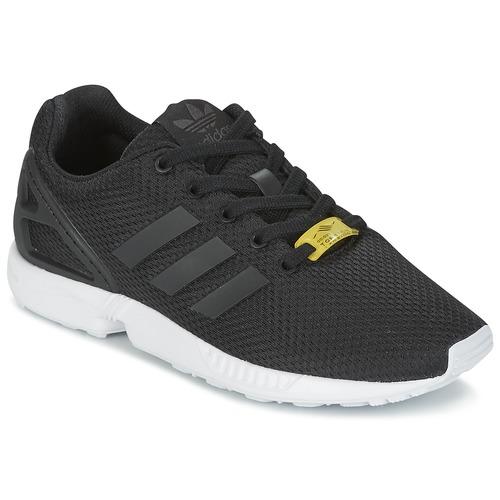kengät Lapset Matalavartiset tennarit adidas Originals ZX FLUX J Black
