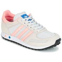 kengät Lapset Matalavartiset tennarit adidas Originals LA TRAINER J White / Pink