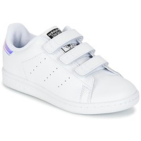 kengät Lapset Matalavartiset tennarit adidas Originals STAN SMITH CF C White