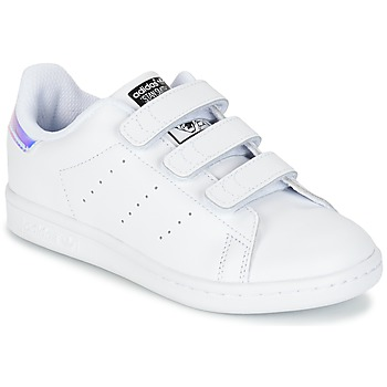 kengät Tytöt Matalavartiset tennarit adidas Originals STAN SMITH CF C White