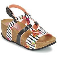 kengät Naiset Sandaalit ja avokkaat Desigual BIO 9 FLORES Black / White / Kukkainen