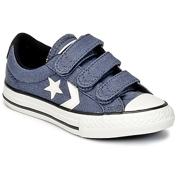 kengät Pojat Matalavartiset tennarit Converse STAR PLAYER 3V VINTAGE CANVAS OX Blue / White