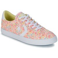 kengät Naiset Matalavartiset tennarit Converse BREAKPOINT FLORAL TEXTILE OX Pink / White