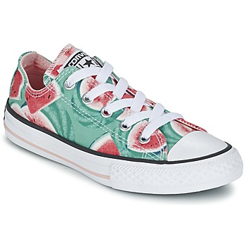 kengät Tytöt Matalavartiset tennarit Converse CHUCK TAYLOR ALL STAR WATERMELON OX Green / Red / White