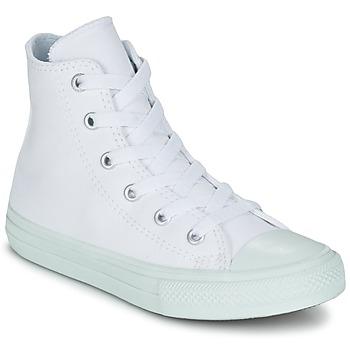 kengät Tytöt Korkeavartiset tennarit Converse CHUCK TAYLOR ALL STAR II PASTEL SEASONAL TD HI White / Blue / CIEL