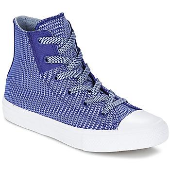 kengät Lapset Korkeavartiset tennarit Converse CHUCK TAYLOR ALL STAR II BASKETWEAVE FUSE TD HI Indigo / Blue / White