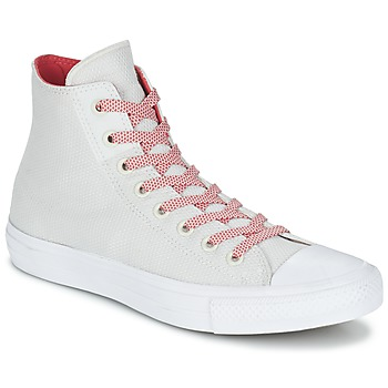 kengät Korkeavartiset tennarit Converse CHUCK TAYLOR ALL STAR II BASKETWEAVE FUSE HI Ecru / White / Red