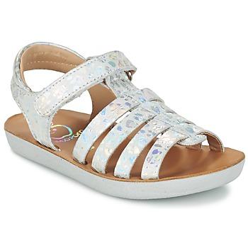 kengät Tytöt Sandaalit ja avokkaat Shoo Pom GOA SPART Silver
