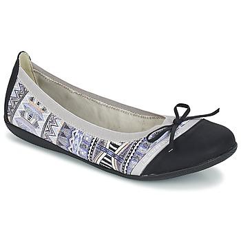 kengät Naiset Balleriinat Les P'tites Bombes CAPRICE Grey / Black