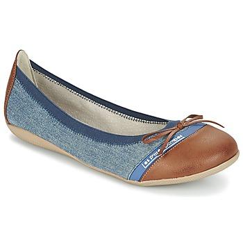 kengät Naiset Balleriinat Les P'tites Bombes CAPRICE Blue / CAMEL