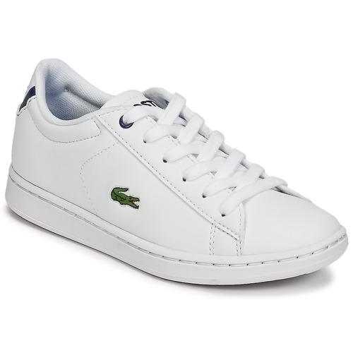kengät Lapset Matalavartiset tennarit Lacoste CARNABY EVO BL 1 White