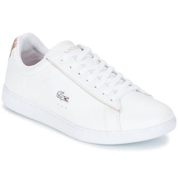 kengät Naiset Matalavartiset tennarit Lacoste CARNABY EVO 217 2 White / Pink