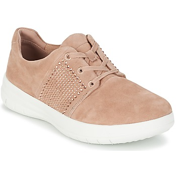 kengät Naiset Matalavartiset tennarit FitFlop SPORTY-POP X CRYSTAL Pink