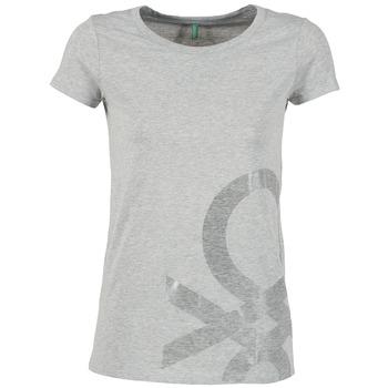 vaatteet Naiset Lyhythihainen t-paita Benetton MADOUL Grey