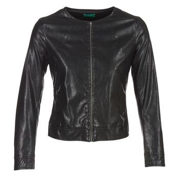 vaatteet Naiset Nahkatakit / Tekonahkatakit Benetton JANOURA Black