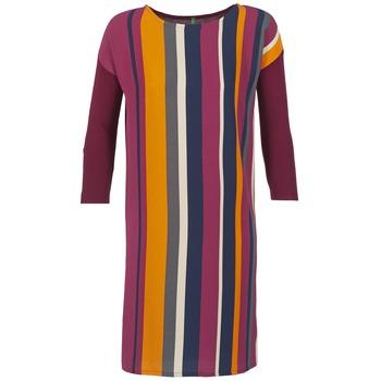 vaatteet Naiset Lyhyt mekko Benetton VAGODA BORDEAUX / Monivärinen