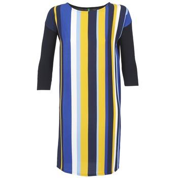 vaatteet Naiset Lyhyt mekko Benetton VAGODA Blue / Yellow / White