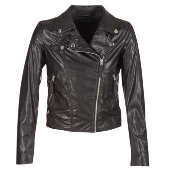 vaatteet Naiset Nahkatakit / Tekonahkatakit Benetton FAJOLI Black