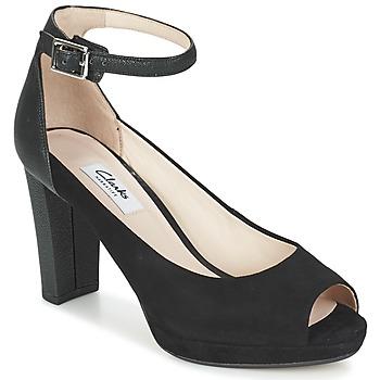 kengät Naiset Sandaalit ja avokkaat Clarks KENDRA ELLA Black
