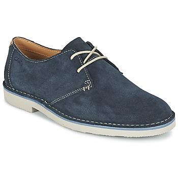 kengät Miehet Derby-kengät Clarks JARETH WALK Blue